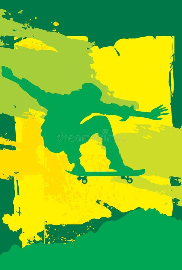 溜冰板者 向量例证