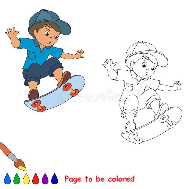 溜冰板运动 冰鞋的一位男婴溜冰者 库存例证