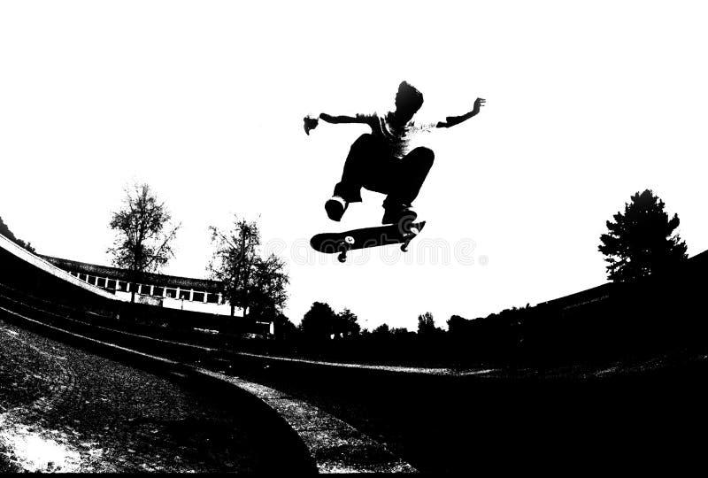 溜冰板运动 向量例证