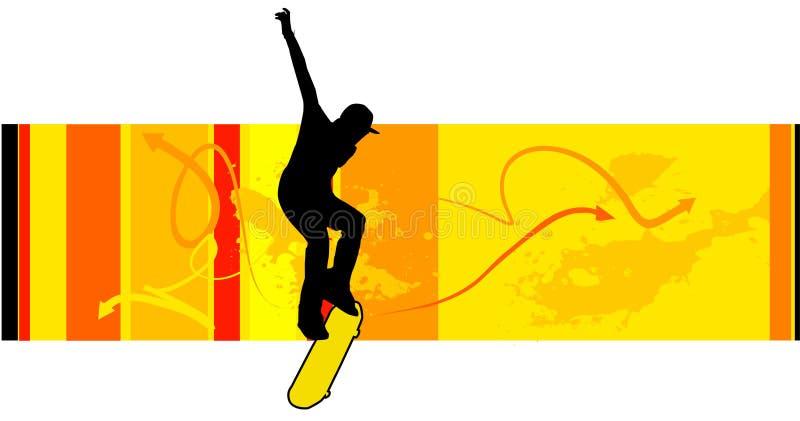 溜冰者向量年轻人 皇族释放例证