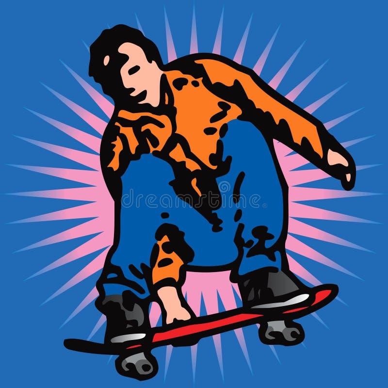 溜冰者向量 皇族释放例证