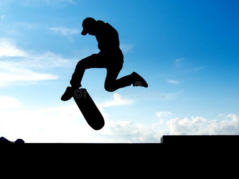 溜冰者特技 免版税库存照片