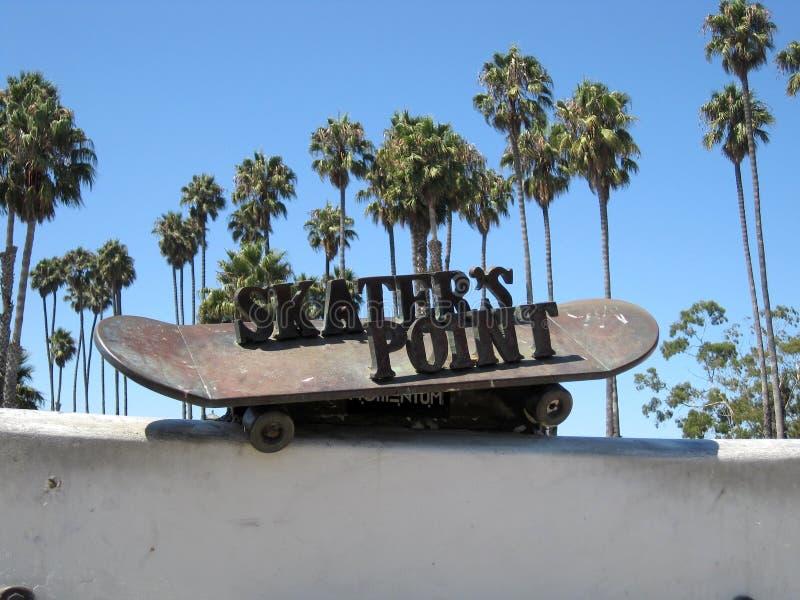 溜冰者的点-圣芭卜拉,加利福尼亚,美国 免版税库存照片
