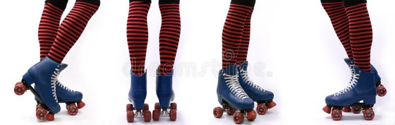 溜冰鞋步 免版税库存图片