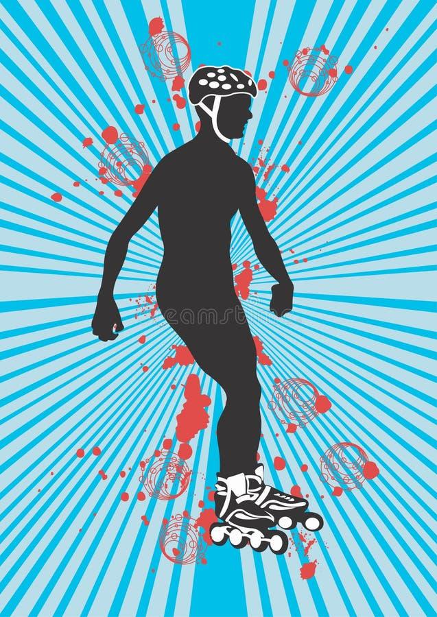 溜冰鞋 向量例证