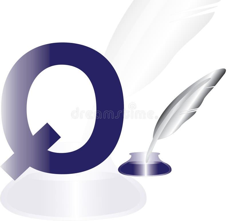 溜溜球的字母表Q 皇族释放例证