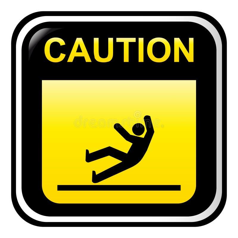 溜滑的小心 库存例证
