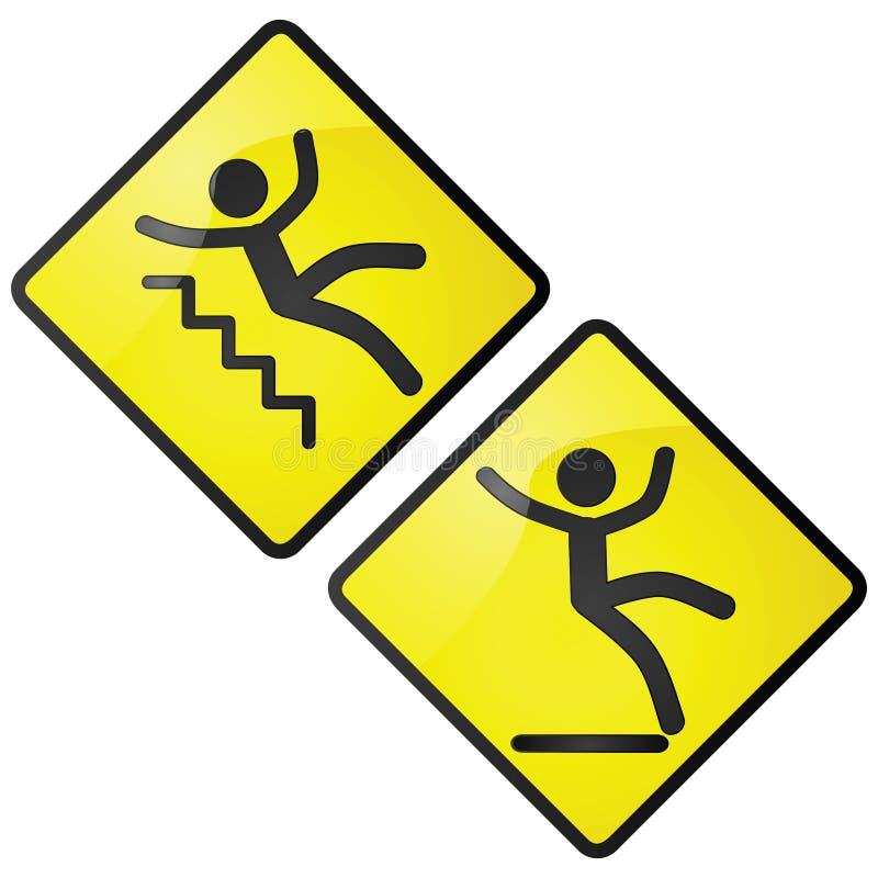 溜滑的符号 库存例证