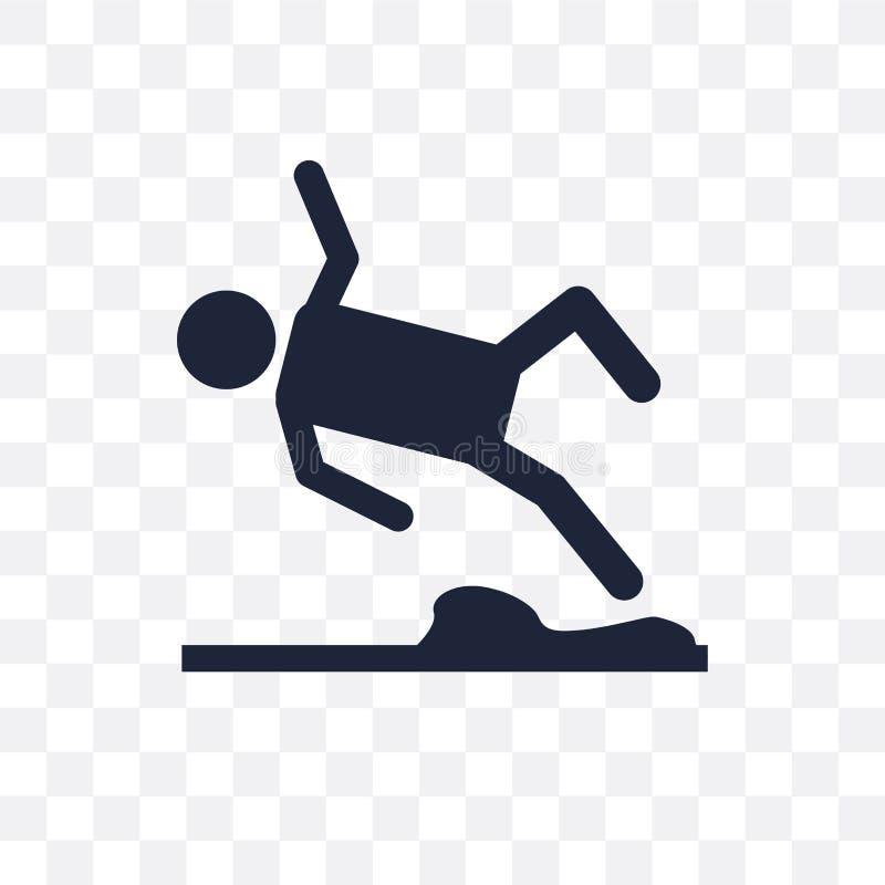 溜滑路透明象 溜滑路标志设计从 库存例证