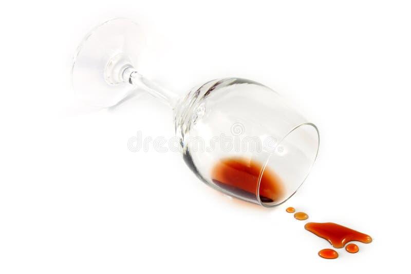 溢出的杯酒 库存图片