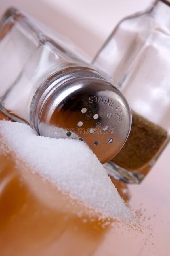 溢出的盐 免版税库存图片