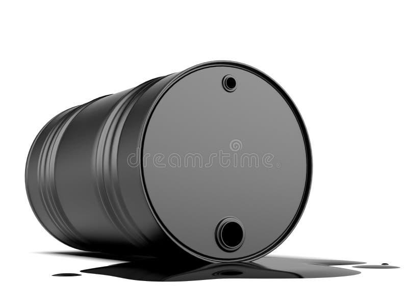 溢出从桶的油 皇族释放例证