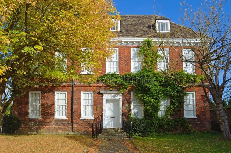 溪议院建于attactive红砖英王乔治一世至三世时期的议院大约1700 库存照片