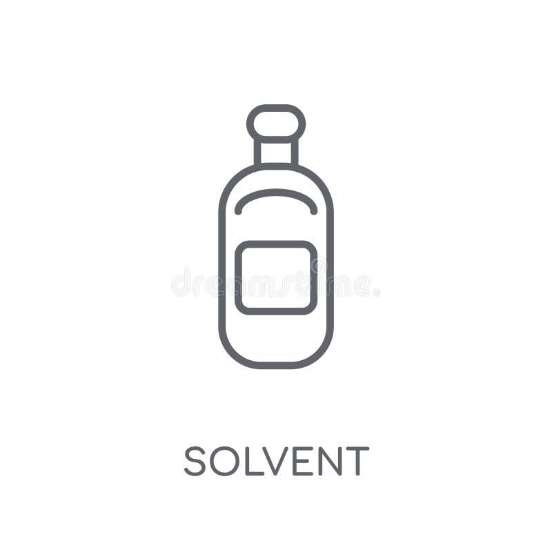 溶剂线性象 现代在丝毫的概述溶解的商标概念 库存例证