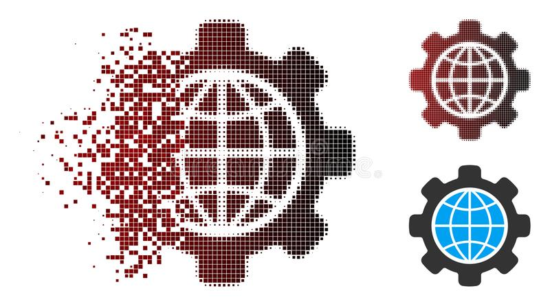 溶化的映象点半音全球性选择象 向量例证