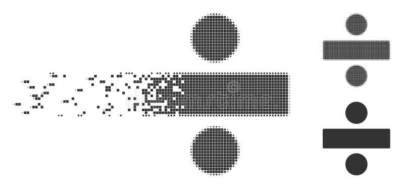 溶化的映象点半音分界算术操作象 库存例证