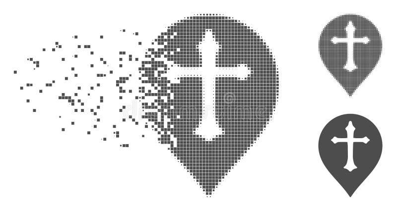 溶化的映象点半音基督徒发怒标志象 库存例证