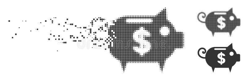 溶化的映象点半音存钱罐象 皇族释放例证