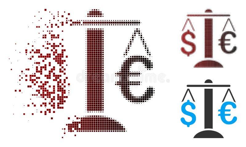 溶化的映象点半音欧洲美元平衡象 皇族释放例证