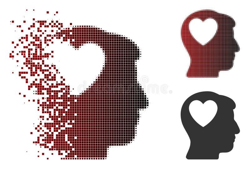 溶化的映象点半音爱心脏认为象 皇族释放例证