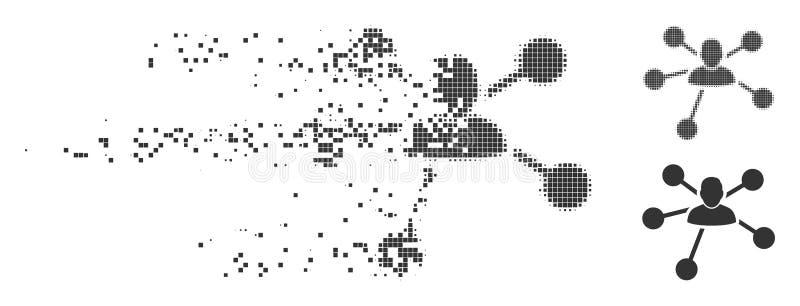 溶化的映象点半音用户联系象 皇族释放例证