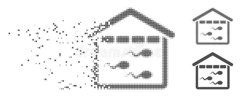 溶化的映象点半音精子库象 库存例证