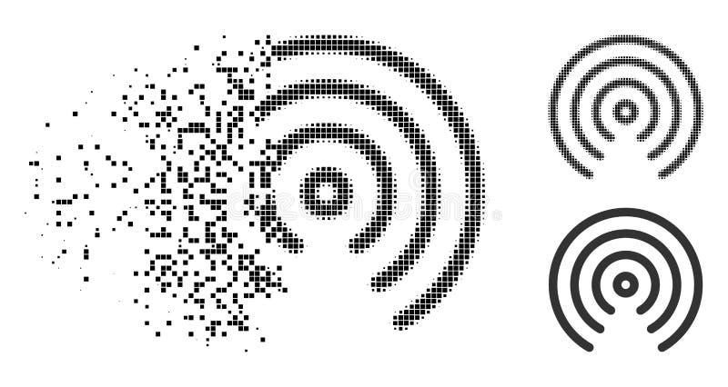 溶化的被加点的半音空投中心象 向量例证