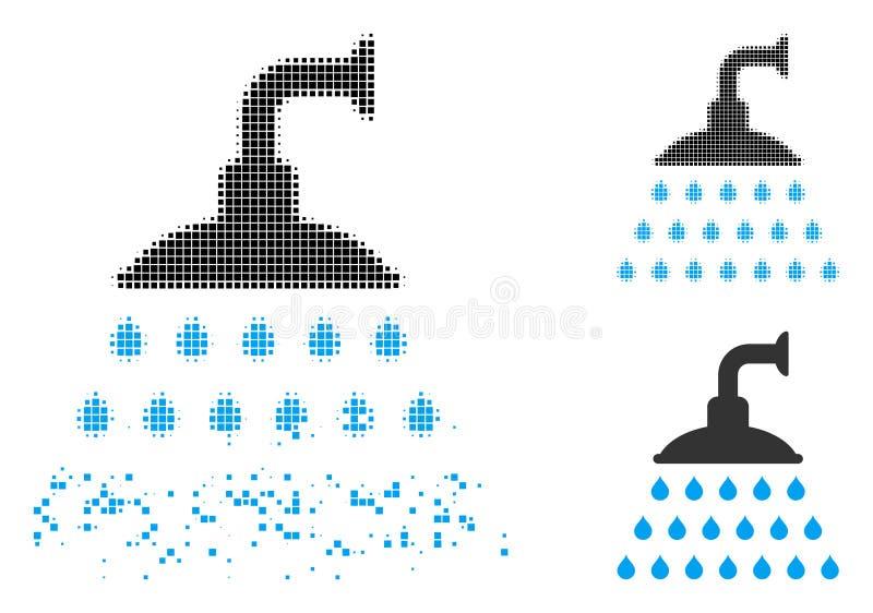 溶化的被加点的半音阵雨象 向量例证