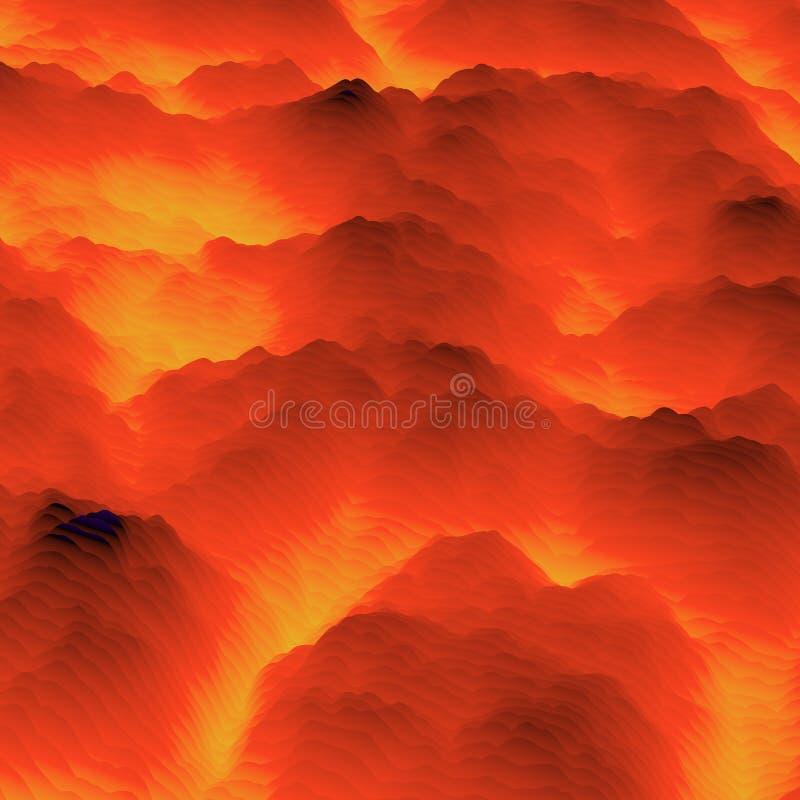 溶岩 摘要五颜六色的波浪背景 o 向量例证