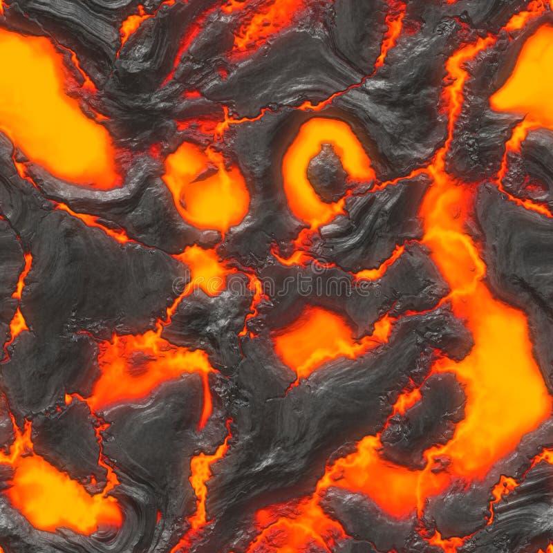 溶解熔岩的岩浆 向量例证