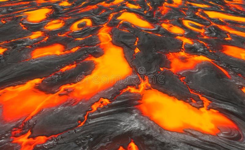溶解熔岩的岩浆 皇族释放例证