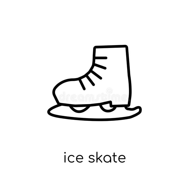 滑冰从汇集的象 库存例证