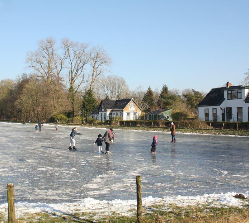 滑冰在滑冰场 免版税库存照片