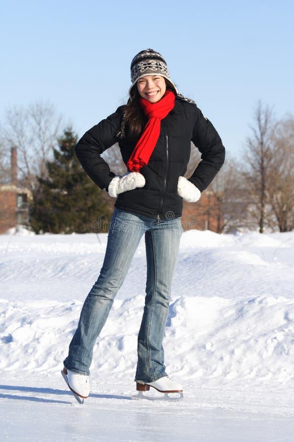 滑冰妇女 免版税库存图片