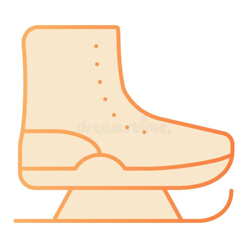 滑冰平的象 在时髦平的样式的花样滑冰橙色象 E 皇族释放例证