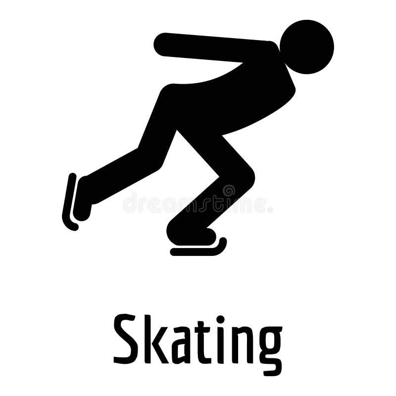 滑冰的象,简单的样式 皇族释放例证