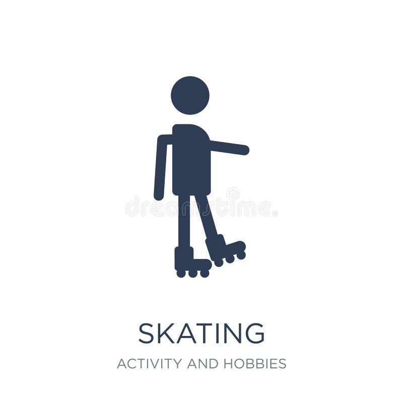 滑冰的象  库存例证