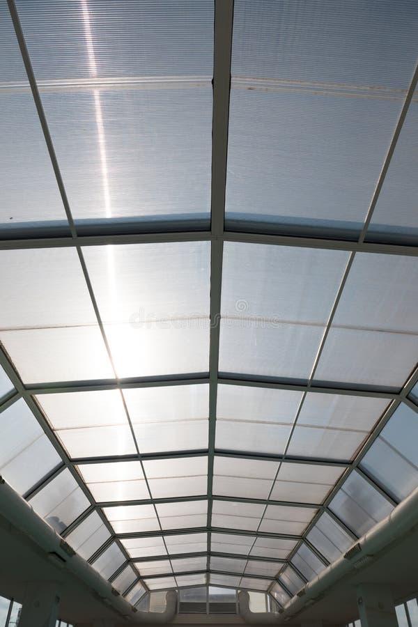 滑室内游泳池屋顶  库存图片