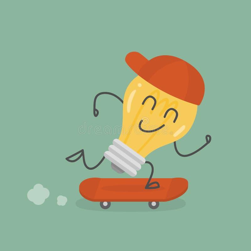 滑板的富创意的人 r 向量例证