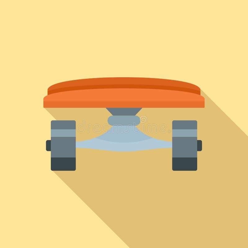 滑板象,平的样式前面  向量例证