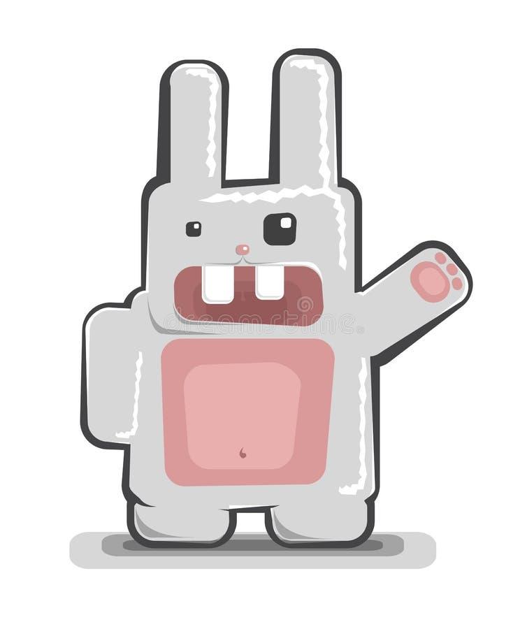滑稽的兔子向量 向量例证