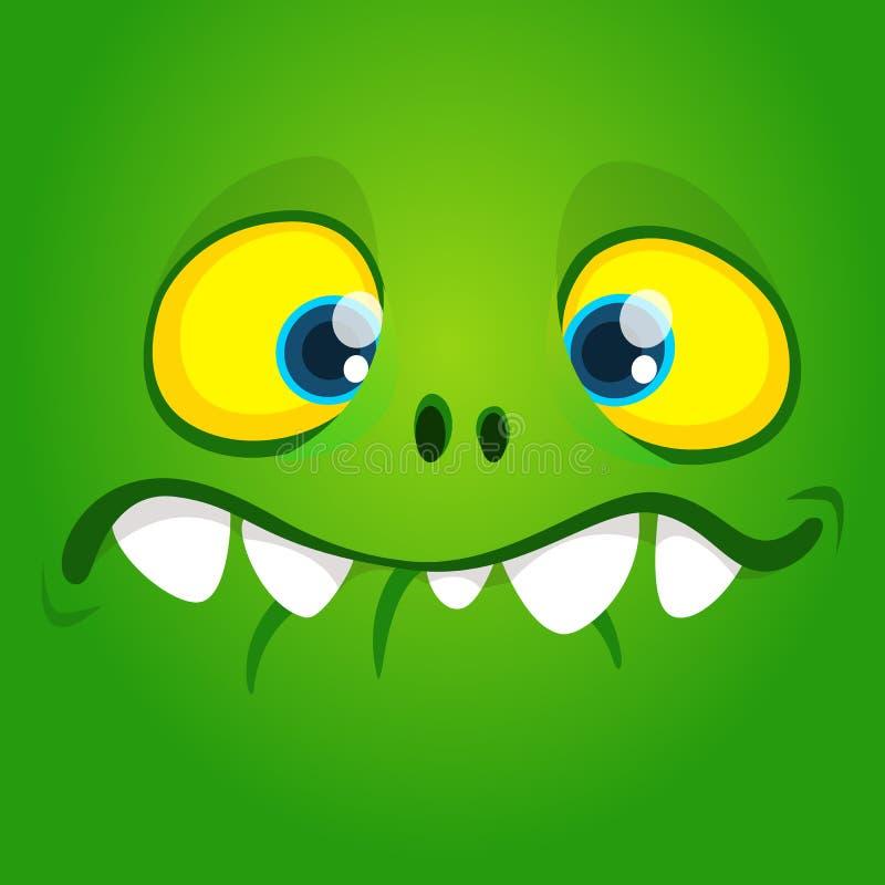 滑稽的凉快的动画片gremlin面孔 传染媒介万圣夜绿色妖怪字符 库存例证