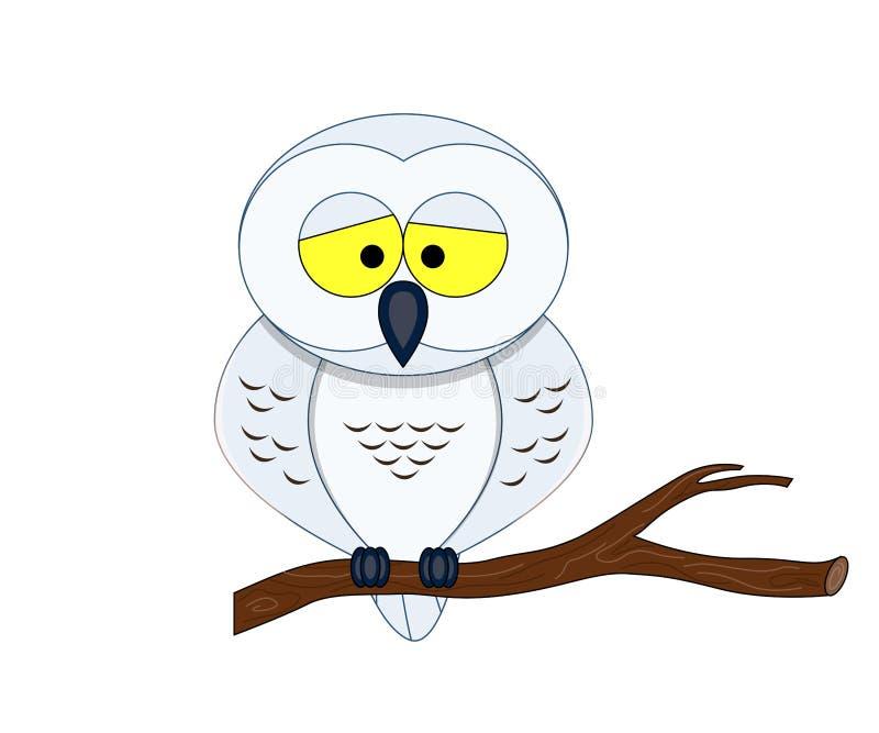 滑稽的动画片北极猫头鹰 向量例证