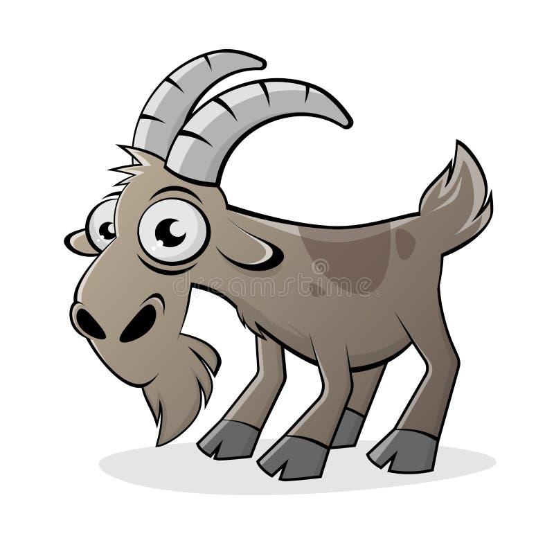 滑稽的动画片山羊被隔绝的例证 向量例证