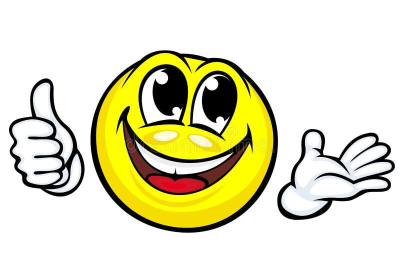 滑稽的动画片微笑 向量例证