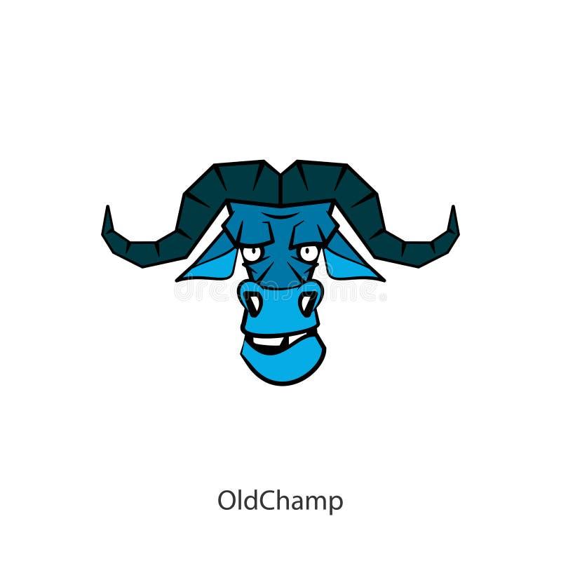 滑稽的头狂放的北美野牛颜色 向量例证