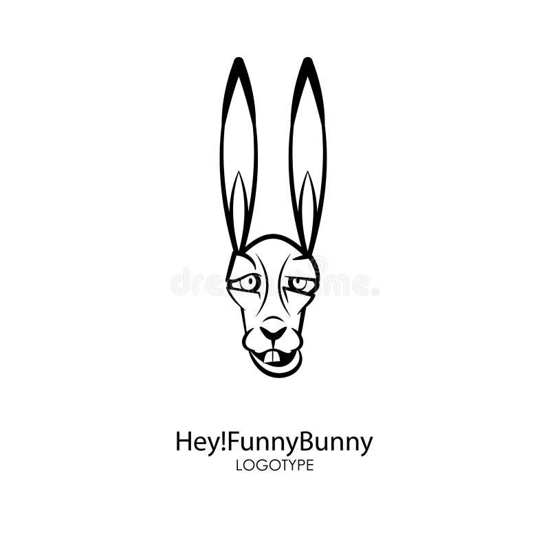 滑稽的头野生兔子 库存例证
