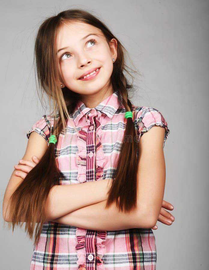 滑稽的女孩一点 免版税图库摄影
