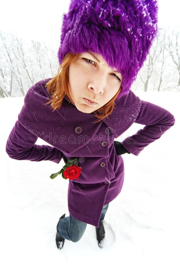 滑稽的女孩 免版税库存照片