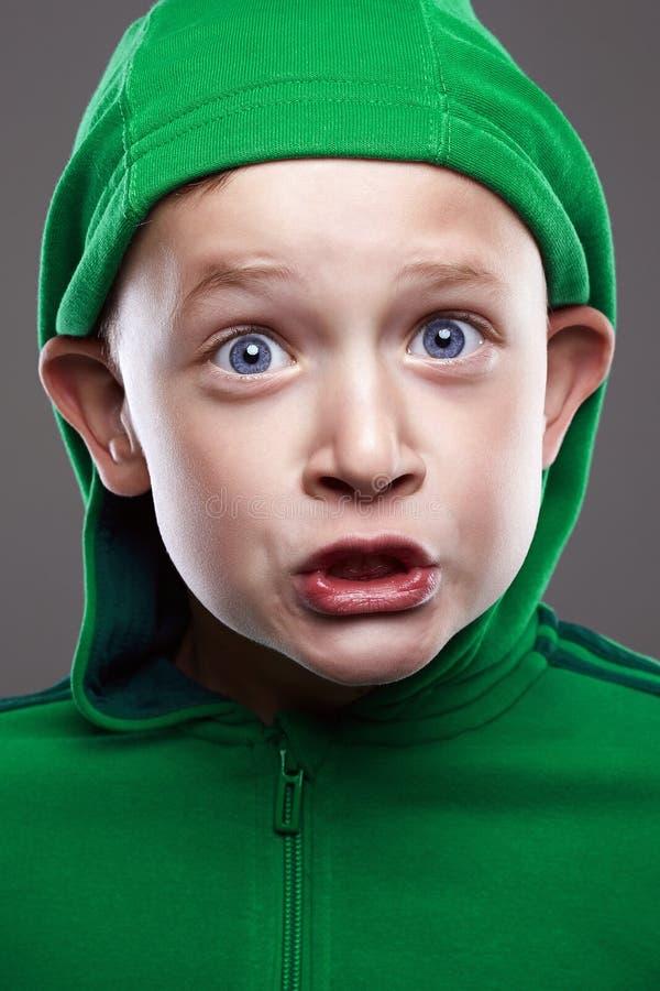 滑稽的孩子 表示小男孩 库存图片